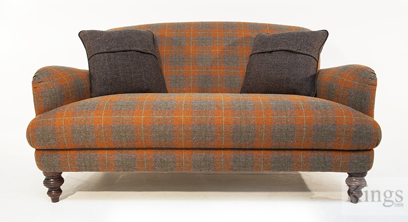 Tetrad harris tweed braemar petit sofa for Leather and tweed sofa