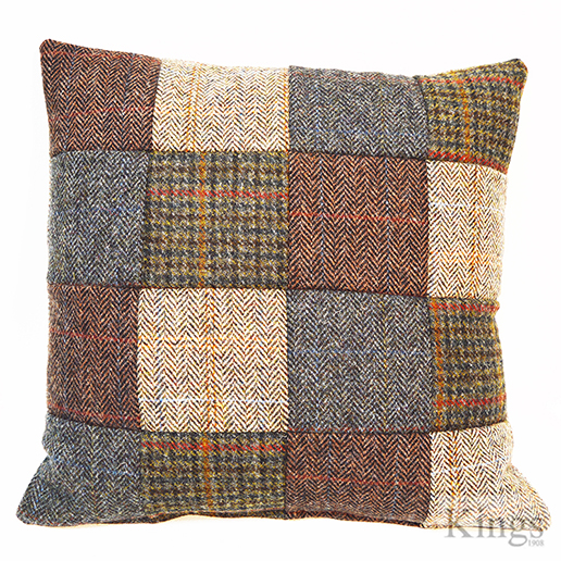 Tetrad Harris Tweed Small Patchwork Scatter Cushions