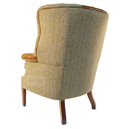 Tetrad Harris Tweed Mackenzie Chair Leather 4