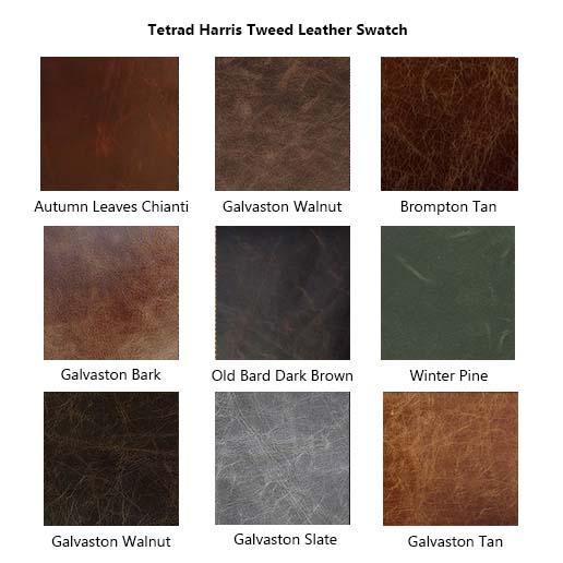 Tetrad Upholstery Harris Tweed Leather Samples