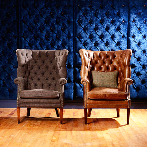 Tetrad Harris Tweed Mackenzie chair in Leather 4
