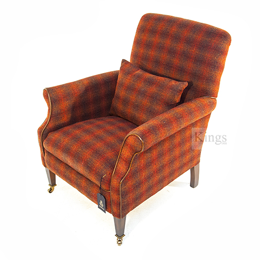 Tetrad Harris Tweed Bowmore Chair Autumn Check ab