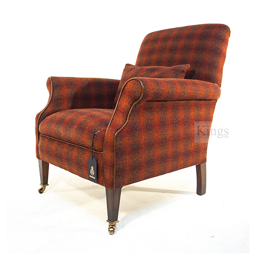 Tetrad Harris Tweed Bowmore Chair in Autumn Check