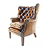 Tetrad Harris Tweed Mackenzie chair in Leather