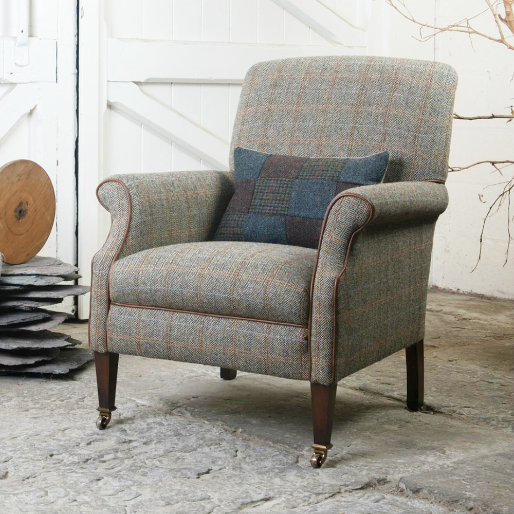 taransay the rink armchair chair sofa gents smiths tetrad at upholstery tweed harris ranges