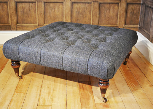 Tetrad Upholstery Harris Tweed Castlebay Stool
