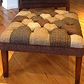 Tetrad Upholstery Harris Tweed Mackenzie Patchwork Stool