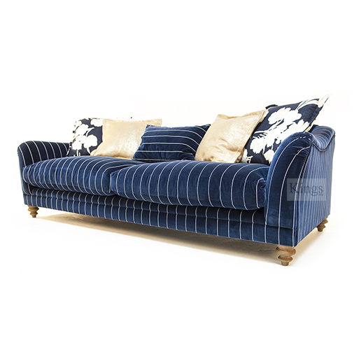 Tetrad Upholstery In Ralph Lauren Signature fabrics The Gatsby Sofa Pinstripe Blue