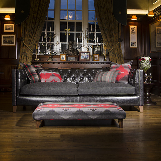 Tetrad Upholstery Empire Suggler in Ralph Lauren Signature Fabrics