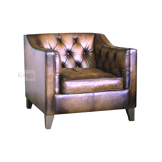 Contrast Upholstery Battersea Chair In Leather 3