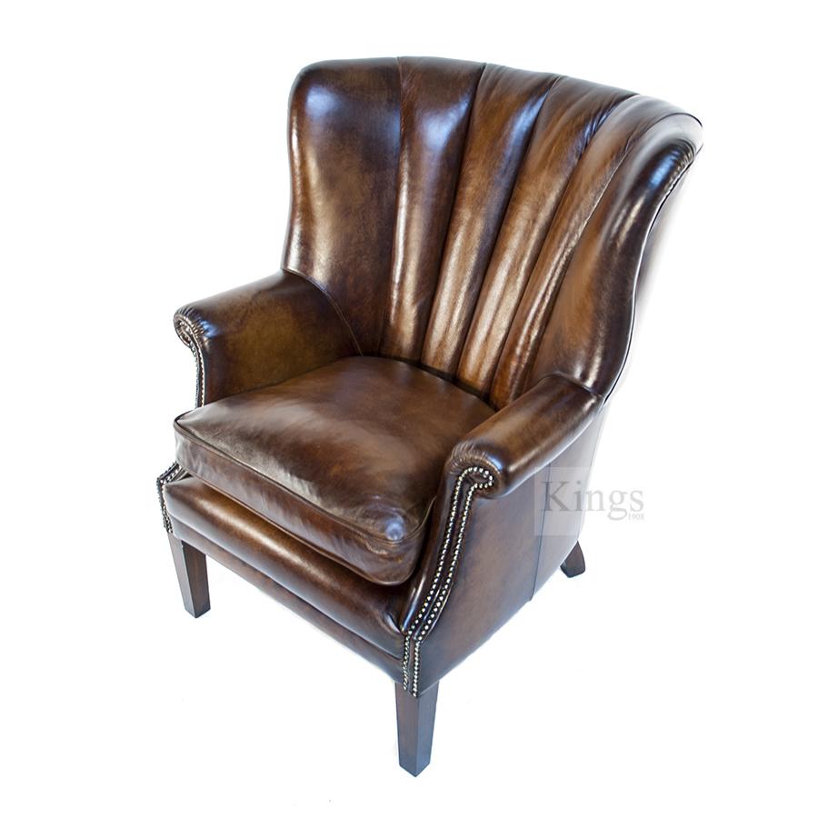 Tetrad Upholstery Beardsley High Back Wing Chair Kings