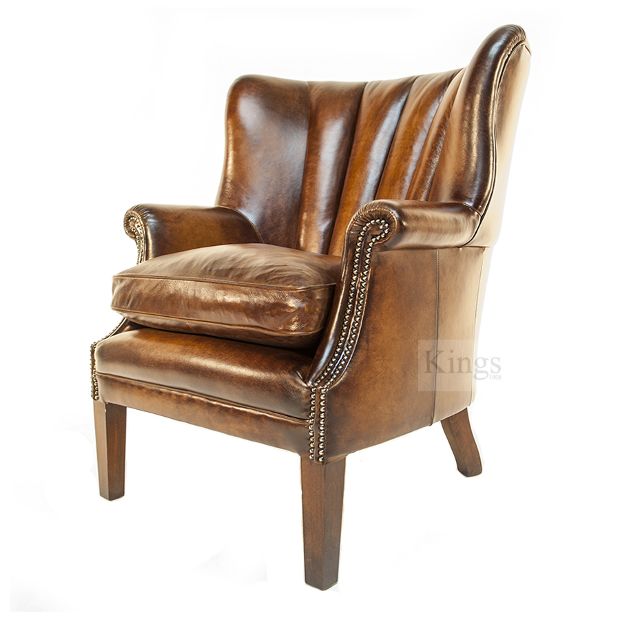 Tetrad Upholstery Beardsley High Back Wing Chair Kings