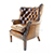 Contrast Upholstery Bradley High Back Wing Chair