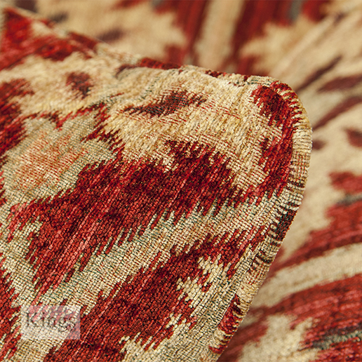 Tetrad Elgar Red Cushion Detail
