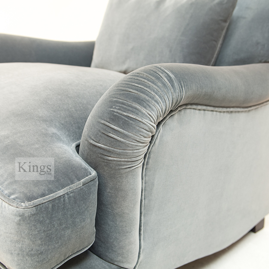 Tetrad Windermere Sofa And Chair In Soft Blue Grey Velvet SOLD