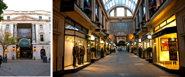 Nottingham has some of the best shopping centres in the country, the Exchange Arcade, The Flying Horse Arcade and the famous Victoria Centre.