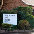 Sat Bains Restaurant and Rooms, famous Michelin star restaurant in Nottingham.