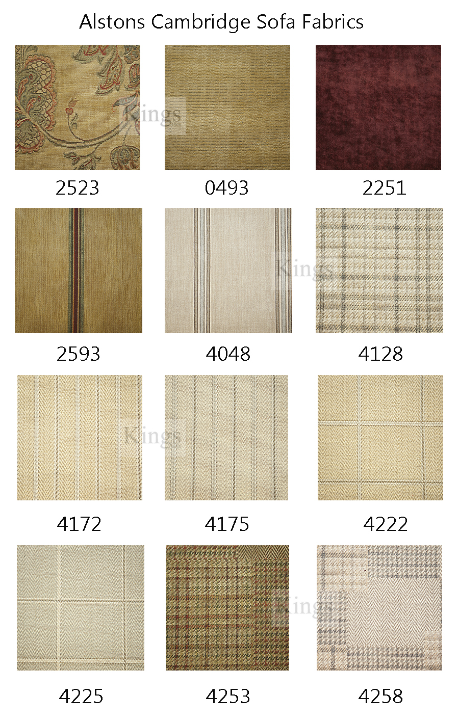 Alstons Cambridge Sofa Fabric Samples 1