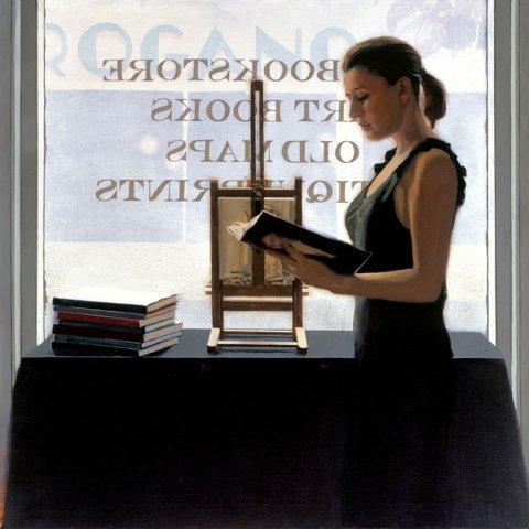 Iain Faulkner - Bookstore (Framed) - Limited Edition Artworks at Kings Interiors Nottingham