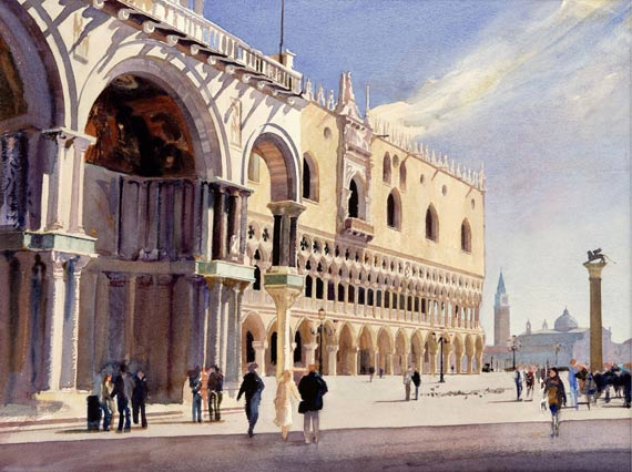 Bob Rudd - Doges Palace, San Marco (Framed) - Limited Edition Artworks at Kings Interiors Nottingham