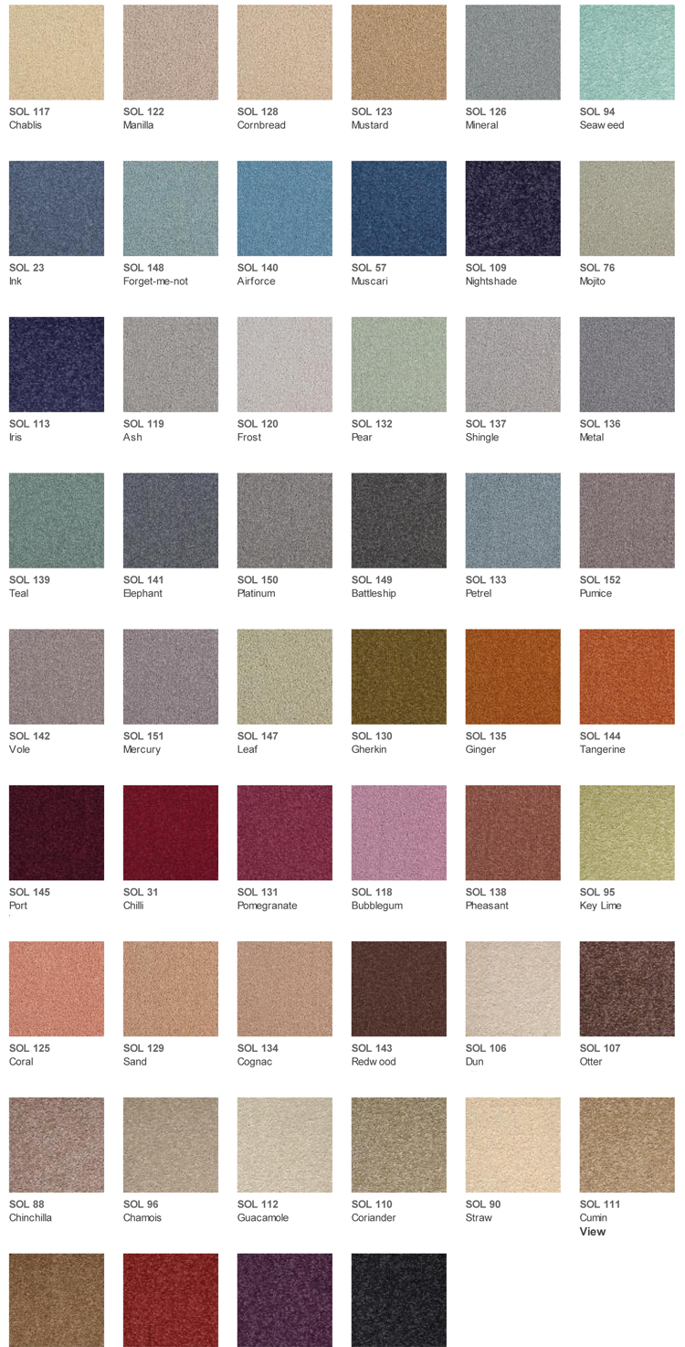 Brockway Carpets Solar Colours