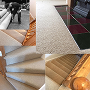 A contemporary 100% wool loop pile fitted to stairs, landing and living room by Andy. Solid crumb rubber throughout to British standards for ultimate durability.