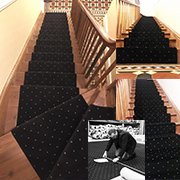 Stairs and Landing In Ulster Axminster Black Pindot fitted by Simon