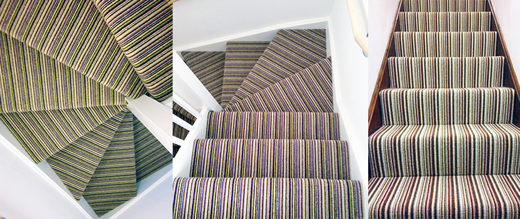 Lime Black Red Stripes To Stairs