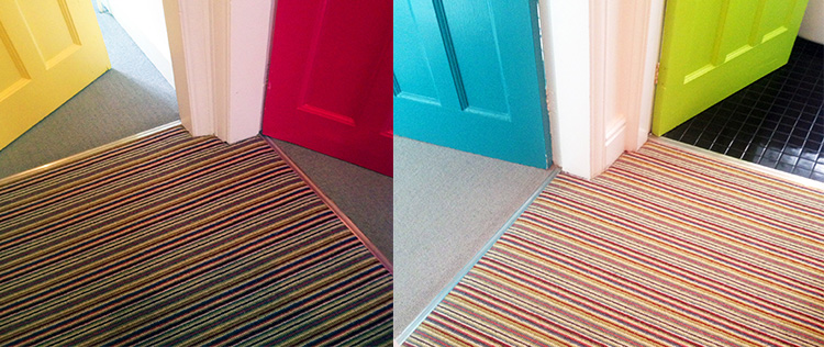 Multi Coloured Doors with Multi Coloured Carpet