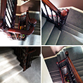Ryalux Velvet Carpet fitted to a Victorian staircase