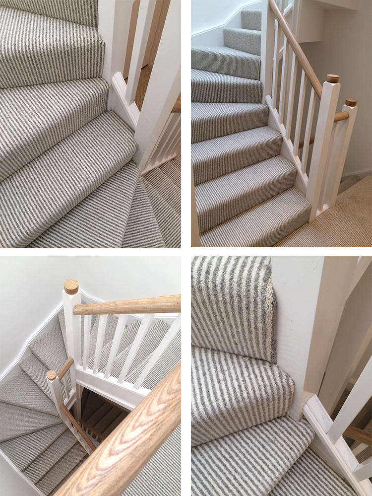 Brockways Herdwick Stripe Fitted To Hall Stairs And