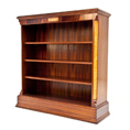 Charles barr Grandeur Bookcase in Mahogany and Olive Ash