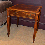 Charles Barr Mahogany Side Table with Drawer