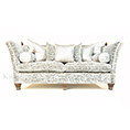 David Gundry Large Madrid Knole Sofa in Silver