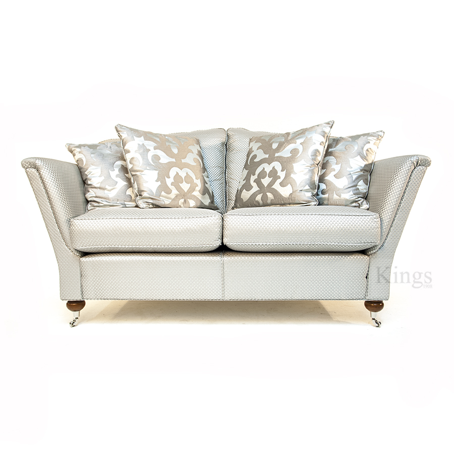Two Duresta Ruskin Sofas In Luxurious Silver Fabric