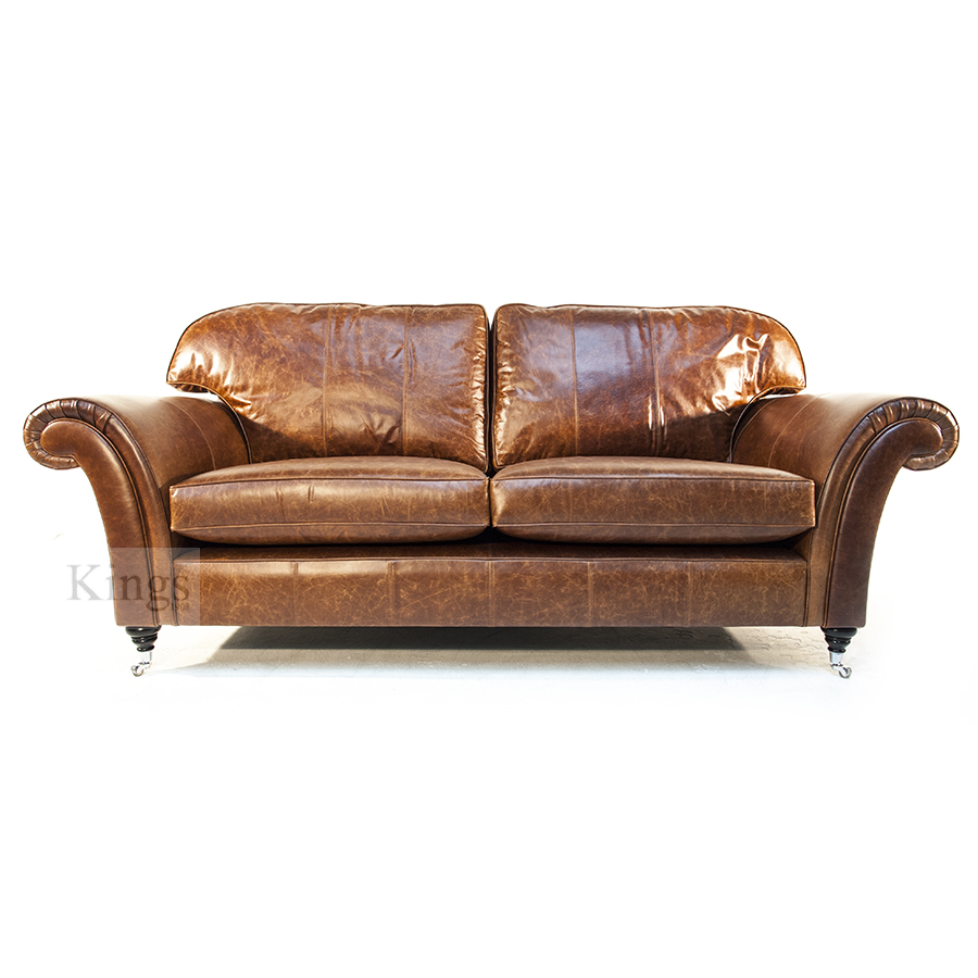 Wade Upholstery Jasper Sofa and Chair in Leather SOLD