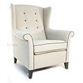 Henderson Russell Willow Wing Chair Crompton Limestone Fabric