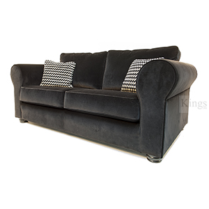 Collins and Hayes Angelo Large and Medium Sofas in Black Velvet