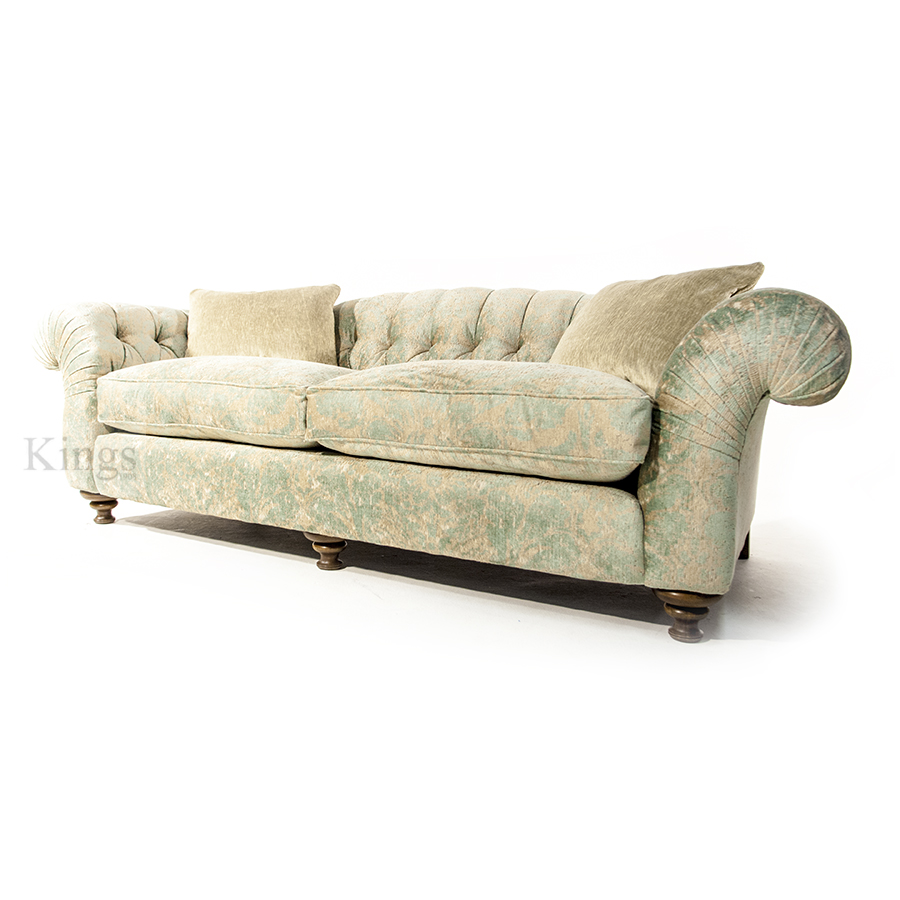 John Sankey Bloomsbury Grand Sofa In Florence Velvet Haze Sold