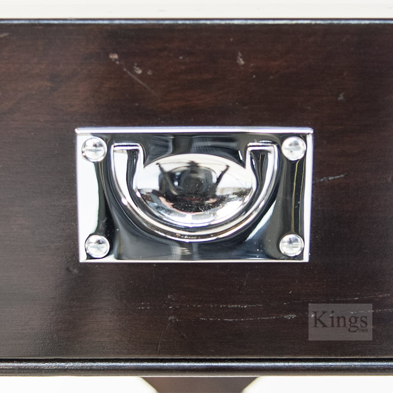 Reh kennedy display coffee table military black and chrome Black and chrome coffee table