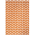 Asiatic Rugs Fashion Floors Arlo AR07 Chevron Orange from Kings Interiors - the ideal place to buy Furniture and Flooring. Call Today - 01158258347.