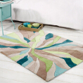 Flair Rugs Infinite Splinter Teal/Green