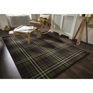 Flair Rugs Glen Kilry Black
