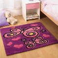 Flair Rugs Flair Kids Butterfly Purple