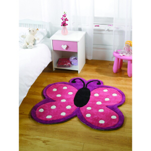 Flair Rugs Play Polka Butterfly