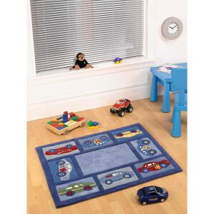 Flair Rugs Play Racing Car
