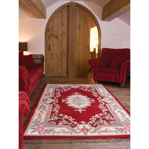 Flair Rugs Lotus Aubusson Red